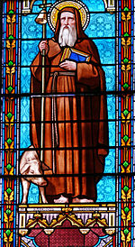 Vitrail - Abbatiale de Saint-Antoine-l'Abbaye